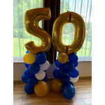 Balloons for 50th birthday