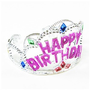 Birthday tiara, hat, sash